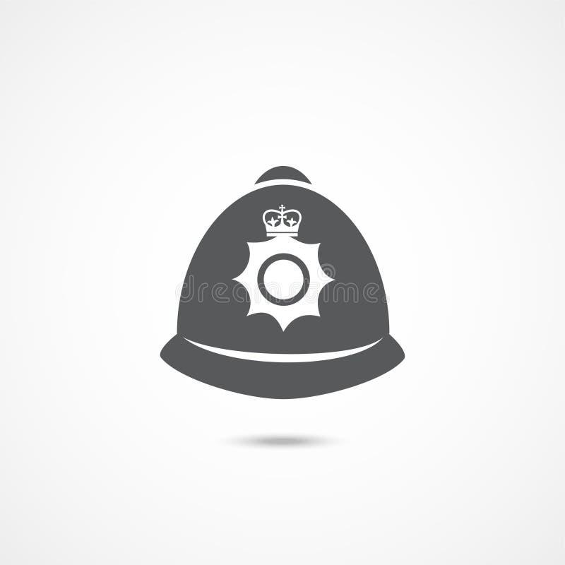 Ícone do chapéu da polícia de Londres ilustração stock