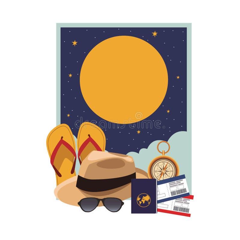 Ícone do chapéu de Panamá ilustração royalty free