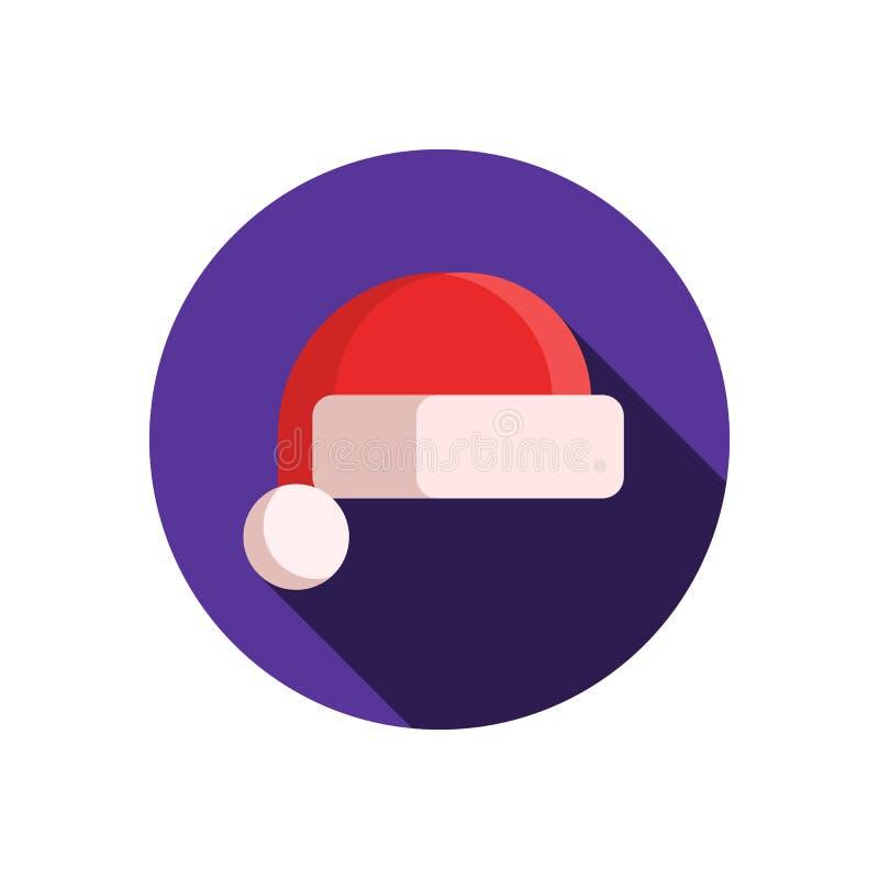 Ícone do chapéu de Santa Claus ilustração stock