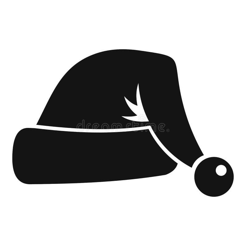 Ícone do chapéu de Santa, estilo simples ilustração royalty free