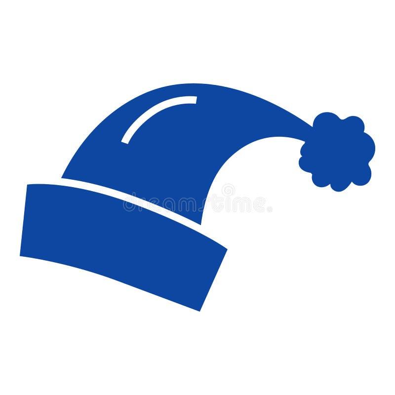 Ícone do chapéu de Santa, estilo simples ilustração do vetor