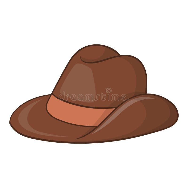 Ícone do chapéu de vaqueiro de Austrália, estilo dos desenhos animados ilustração do vetor