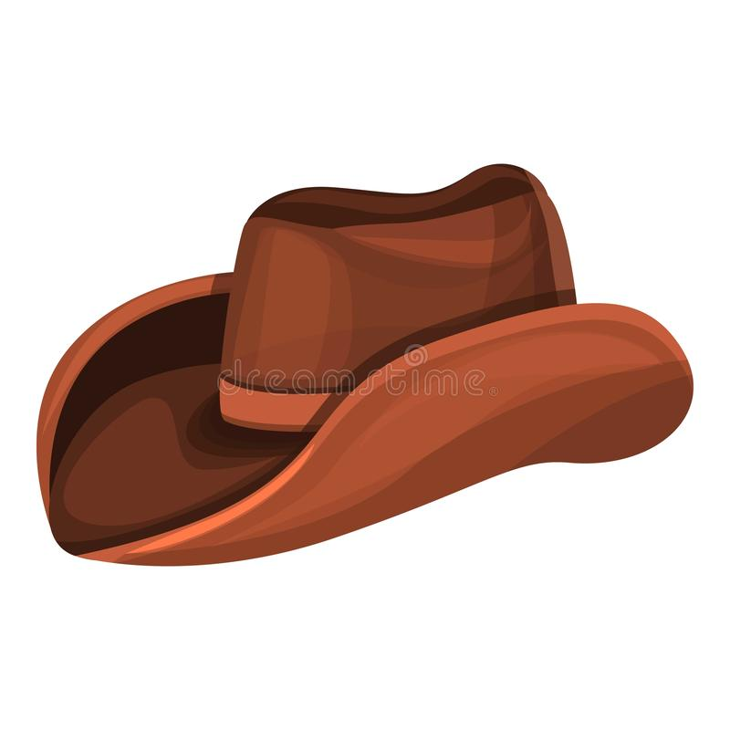 Ícone do chapéu de vaqueiro, estilo dos desenhos animados ilustração do vetor
