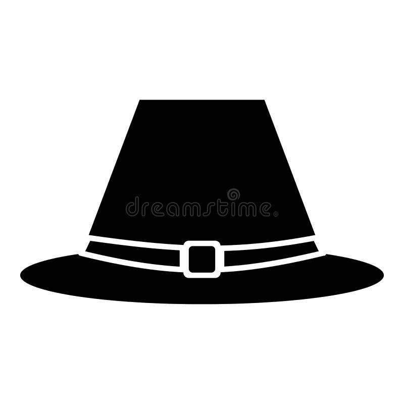 Ícone do chapéu do peregrino, estilo simples ilustração do vetor
