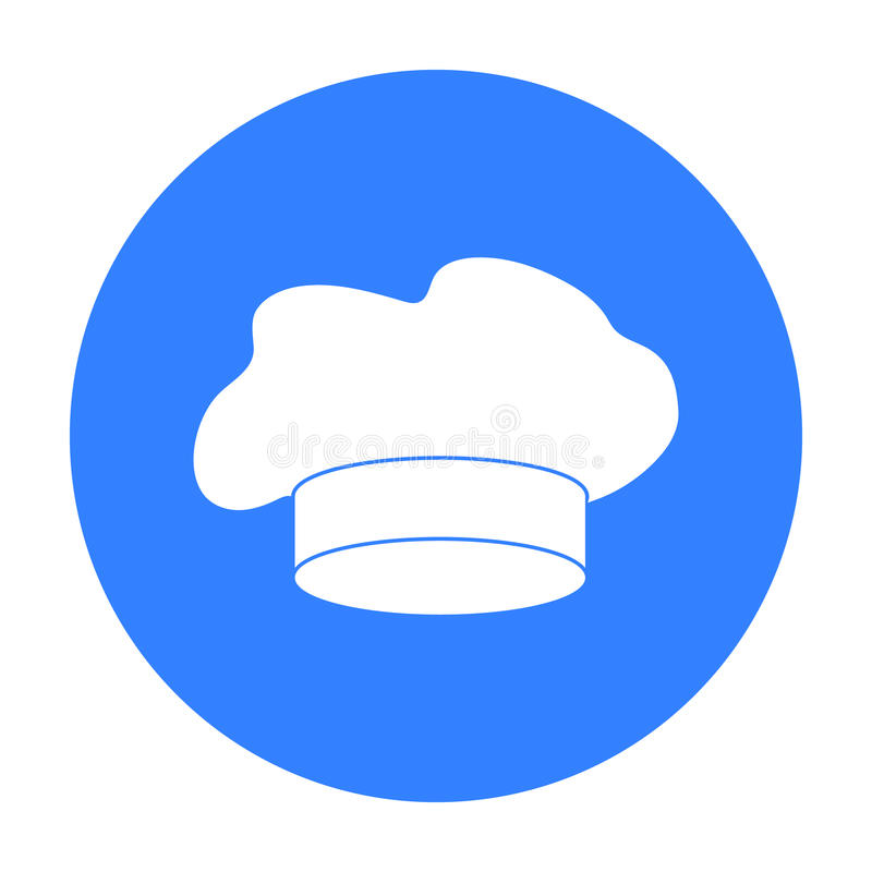 Ícone do chapéu do ` s do cozinheiro chefe no estilo preto isolado no fundo branco Ilustração do vetor do estoque do símbolo dos  ilustração do vetor