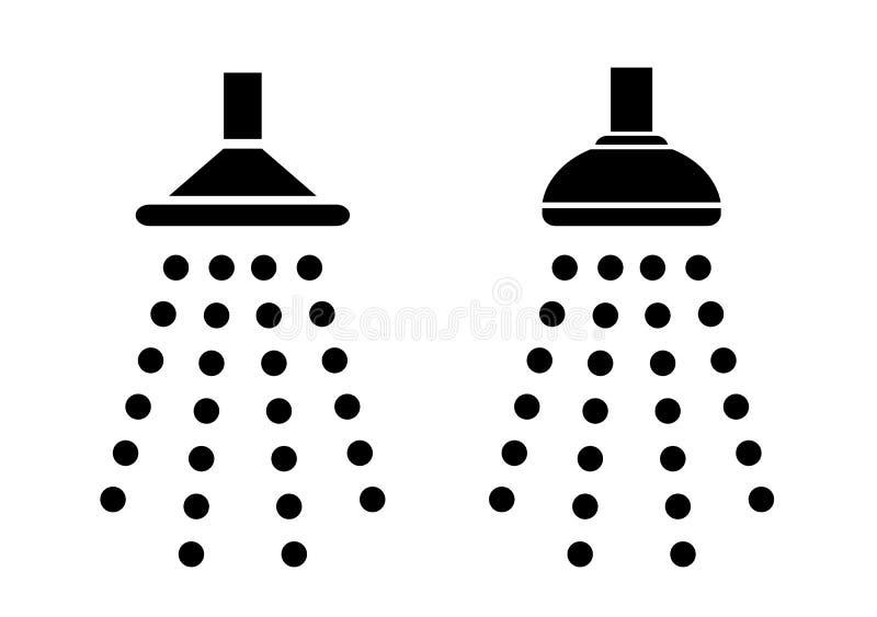 Ícone do chuveiro ilustração do vetor