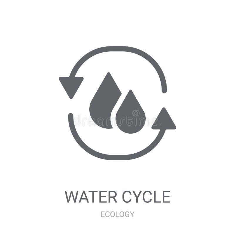 Ícone do ciclo da água  ilustração stock