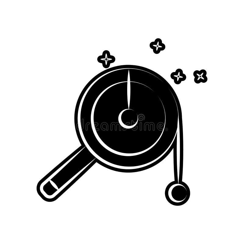 Ícone do cilindro do chocalho Elemento de diâmetro de muertos para o conceito e o ícone móveis dos apps da Web Glyph, ícone liso  ilustração stock
