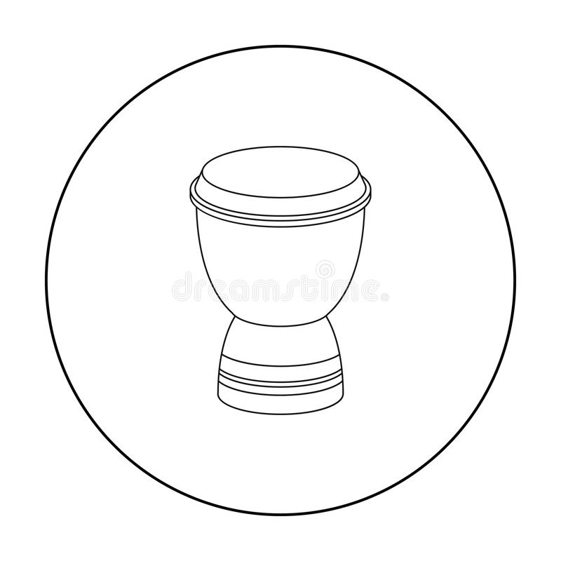 Ícone do cilindro do cálice no estilo do esboço isolado no fundo branco Ilustração do vetor do estoque do símbolo de Turquia ilustração royalty free
