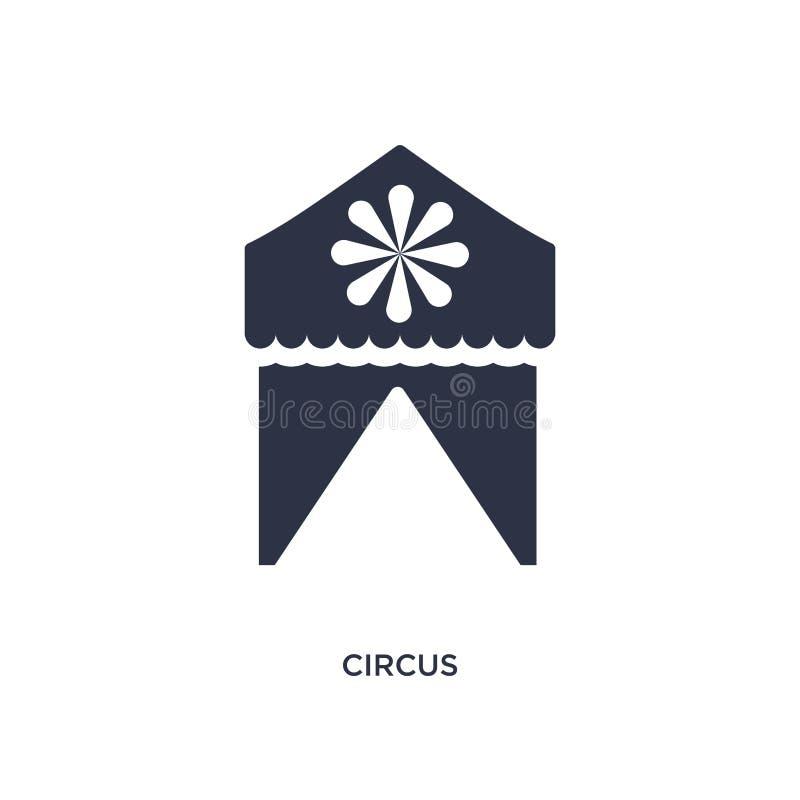 Ícone do circo no fundo branco Ilustração simples do elemento das crianças e do conceito do bebê ilustração do vetor