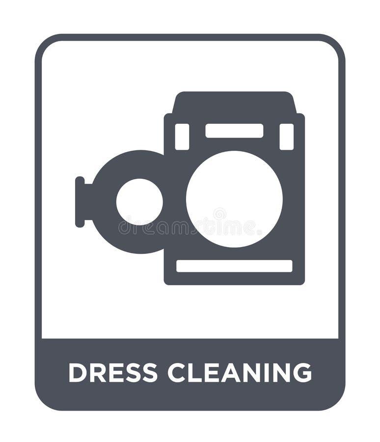 ícone do cleanin do vestido no estilo na moda do projeto ícone do cleanin do vestido isolado no fundo branco ícone do vetor do cl ilustração do vetor