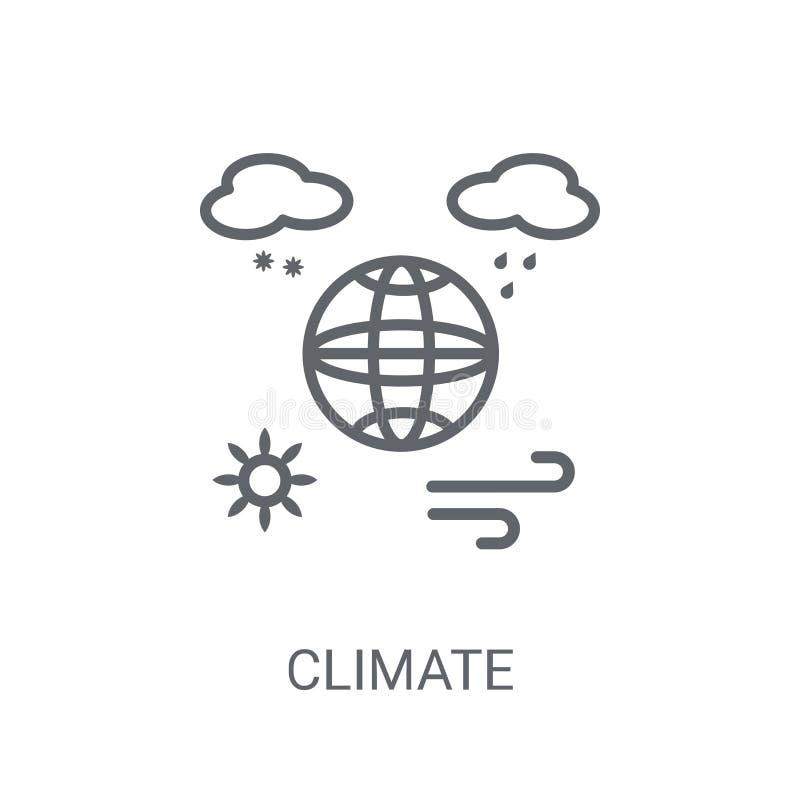 Ícone do clima Conceito na moda do logotipo do clima no fundo branco franco ilustração do vetor