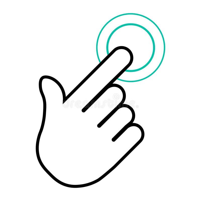 Ícone do clique da mão Ilustração Eps 10 do vetor ilustração do vetor