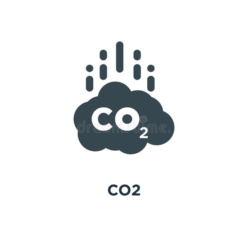 Ícone do CO2 projeto do símbolo do conceito da redução de emissões do carbono, vect ilustração do vetor
