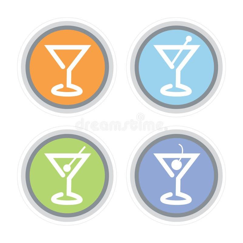 Ícone do cocktail de Martini ilustração royalty free