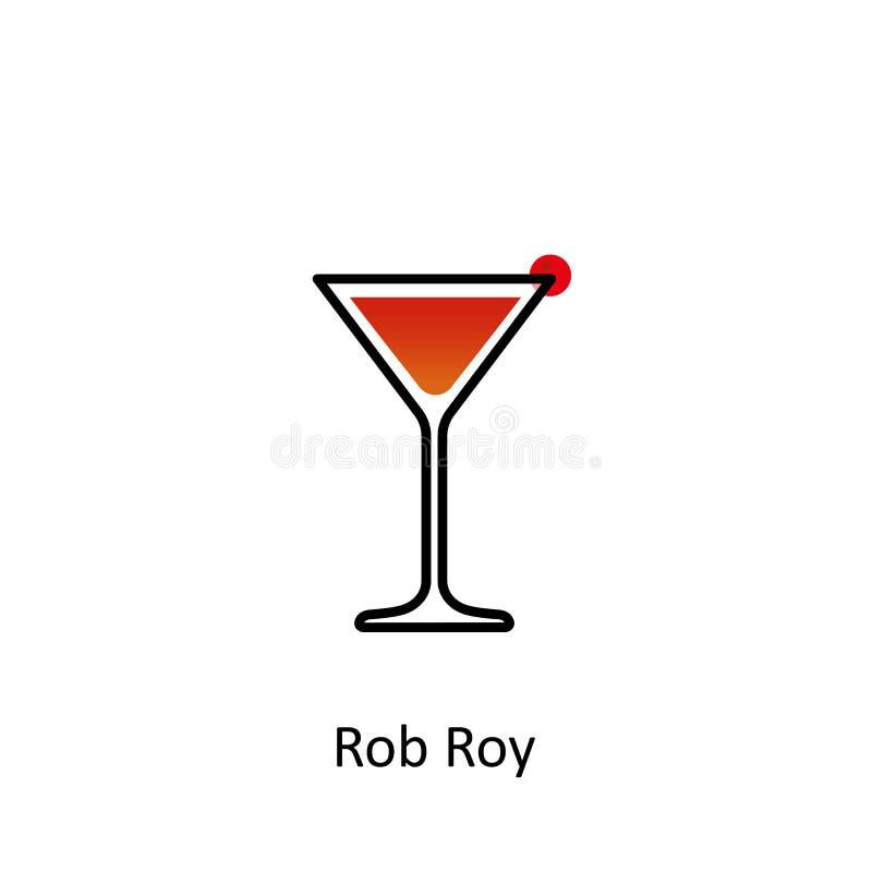 Ícone do cocktail de Rob Roy ilustração do vetor