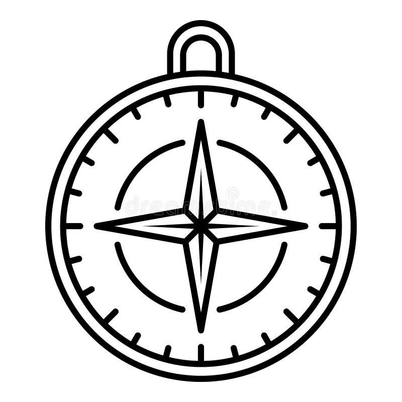 Ícone do compasso da navegação, estilo do esboço ilustração royalty free