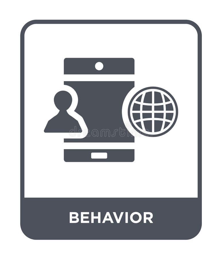 ícone do comportamento no estilo na moda do projeto ícone do comportamento isolado no fundo branco plano simples e moderno do íco ilustração stock