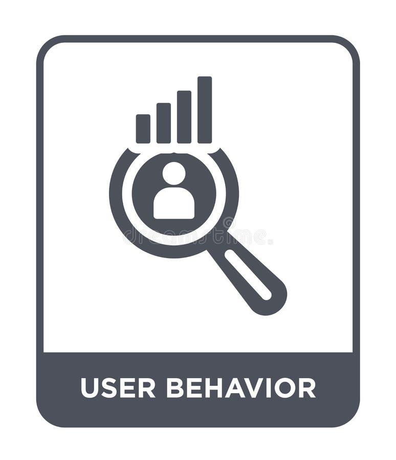 ícone do comportamento do usuário no estilo na moda do projeto ícone do comportamento do usuário isolado no fundo branco ícone do ilustração royalty free