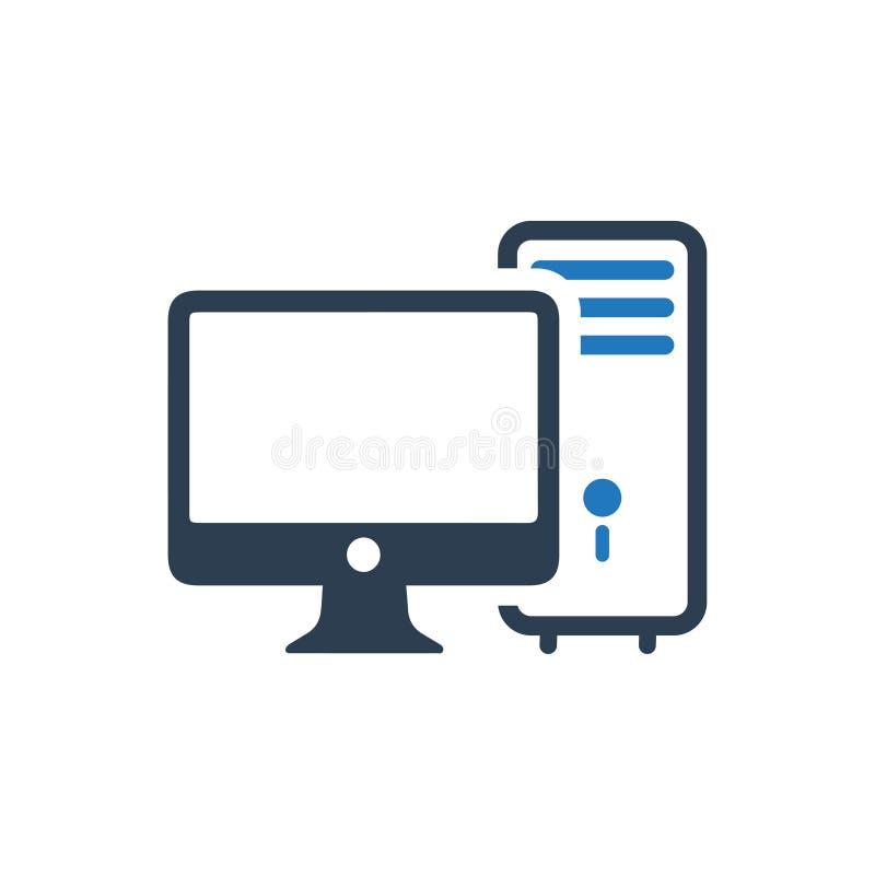 Ícone do computador ilustração royalty free