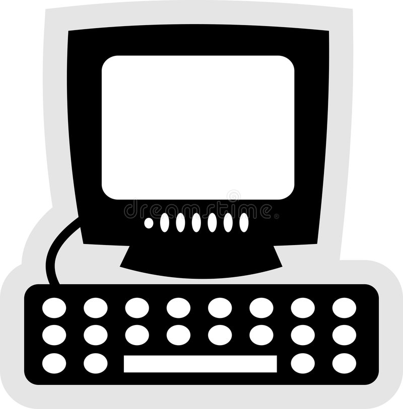 Ícone do computador ilustração do vetor