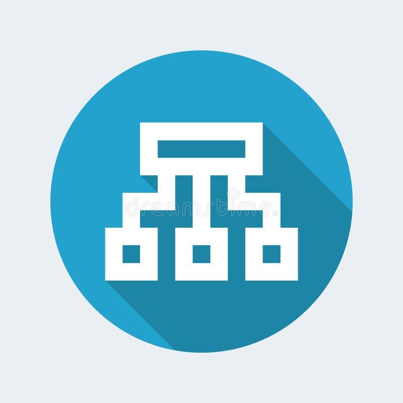 Ícone do computador do pixel ilustração do vetor