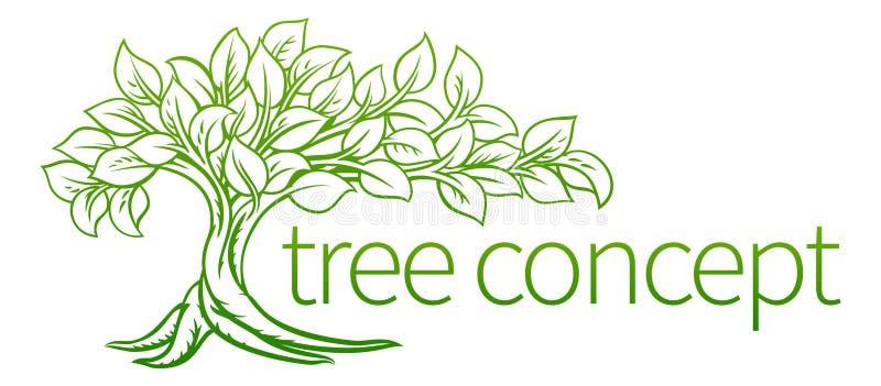 Ícone do conceito da árvore ilustração royalty free