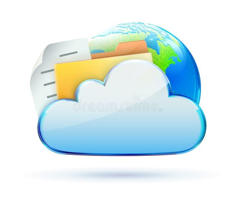 Ícone do conceito da nuvem ilustração do vetor