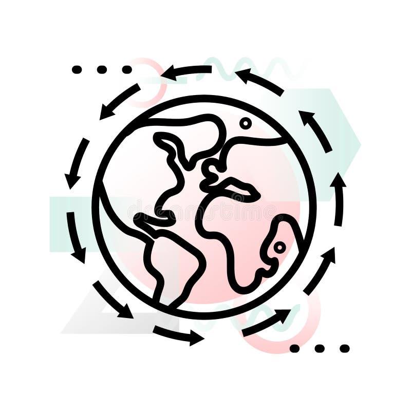 Ícone do conceito do negócio global com fundo abstrato ilustração royalty free
