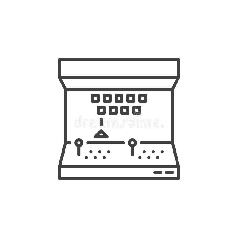 Ícone do conceito do vetor de Arcade Machine no estilo do esboço ilustração stock