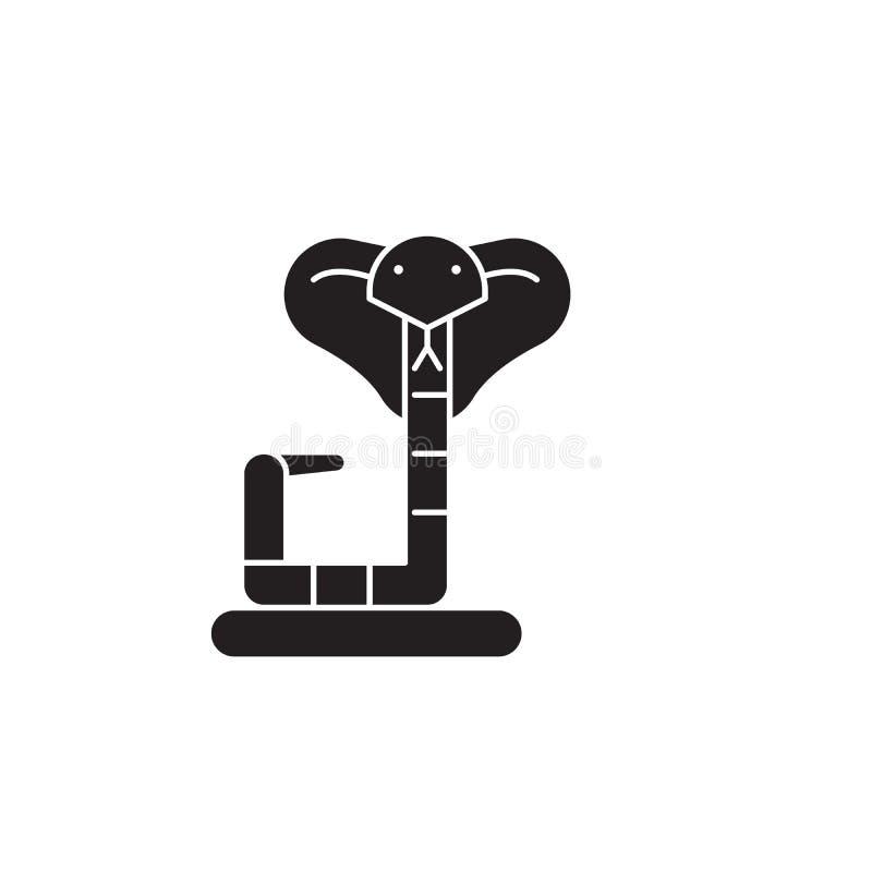 Ícone do conceito do vetor do preto da boa Ilustração lisa da boa, sinal ilustração do vetor