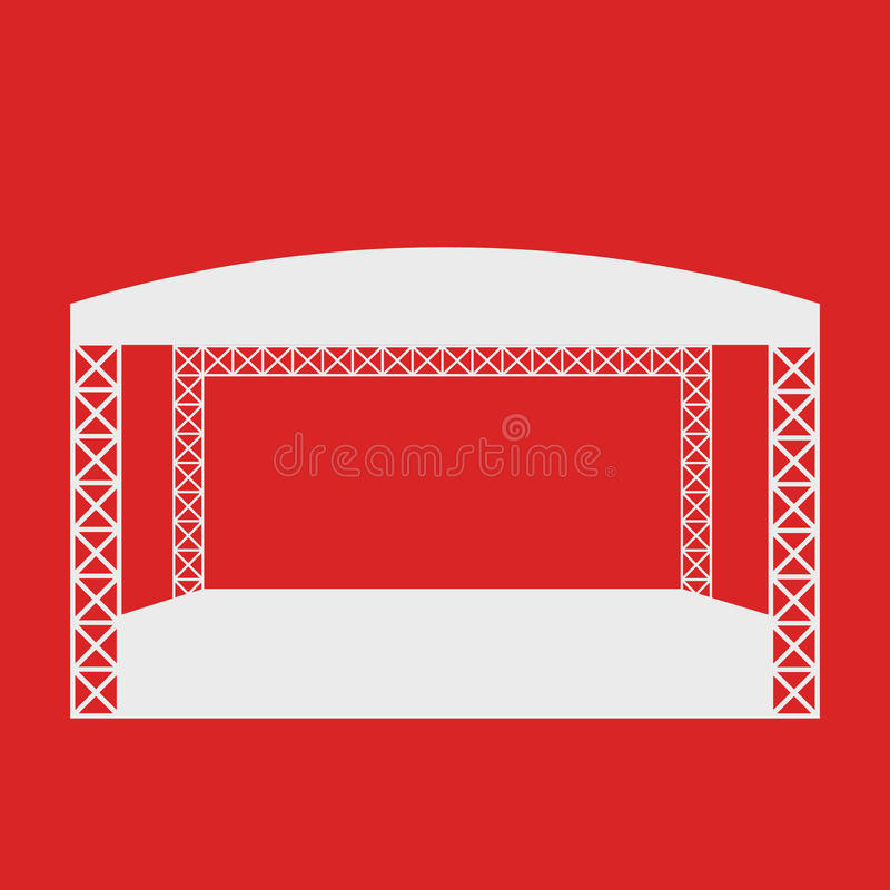 Ícone do concerto de rocha ou molde liso exterior do logotipo ilustração do vetor