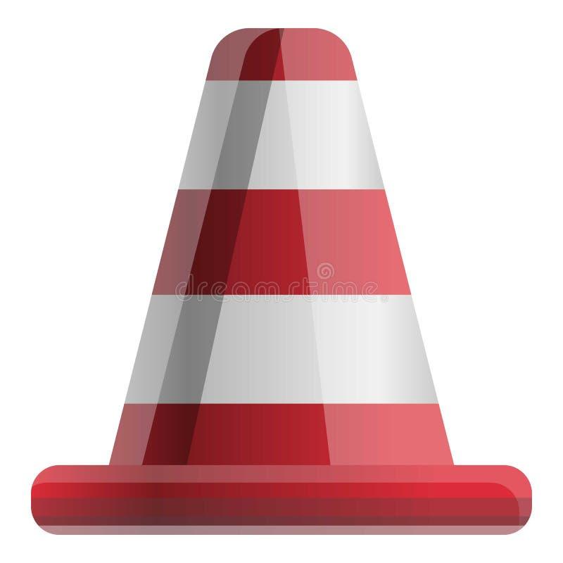 Ícone do cone da estrada, estilo dos desenhos animados ilustração stock