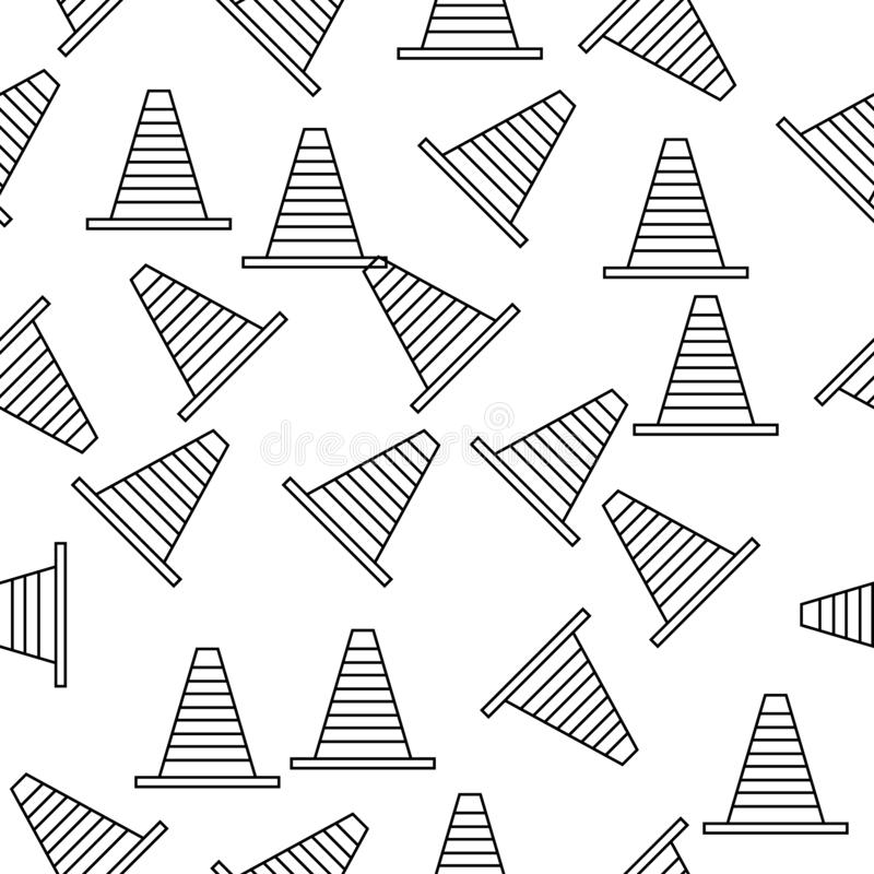 ícone do cone da estrada no estilo do teste padrão Um do ícone de competência americano da coleção pode ser usado para UI, UX ilustração royalty free