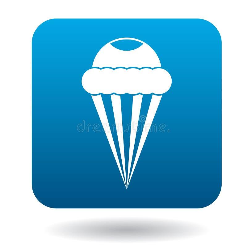 Ícone do cone de gelado, estilo simples ilustração royalty free