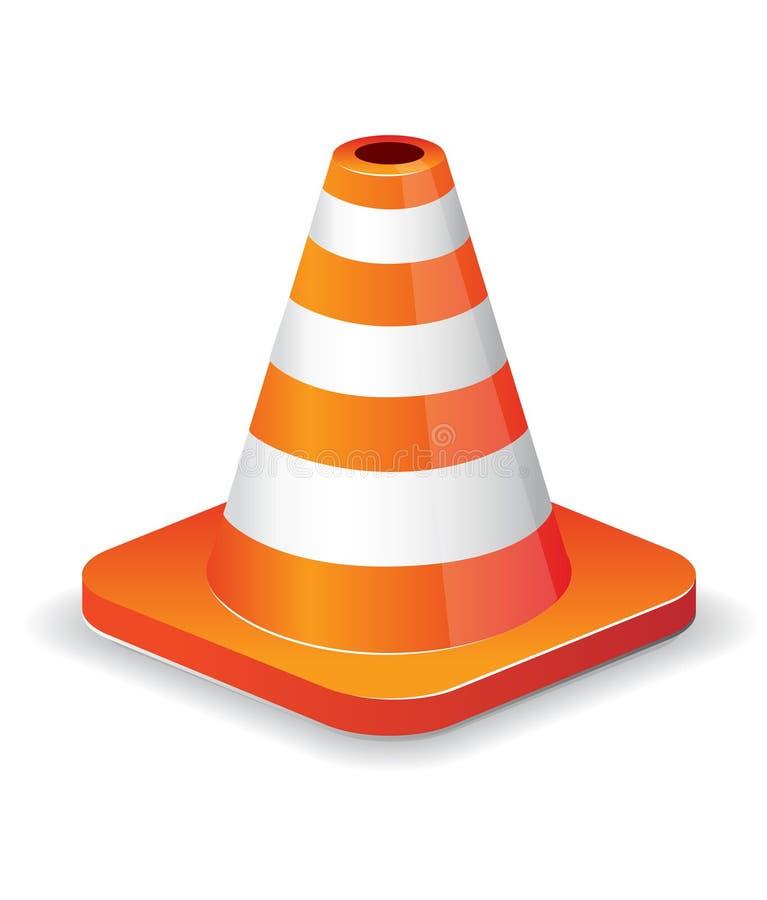 Ícone do cone do tráfego ilustração stock