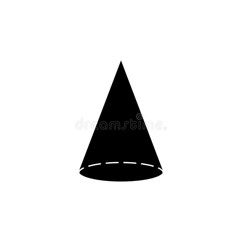 Ícone do cone Elementos da figura geométrica ícone para apps do conceito e da Web Ícone da ilustração para o projeto do Web site ilustração do vetor
