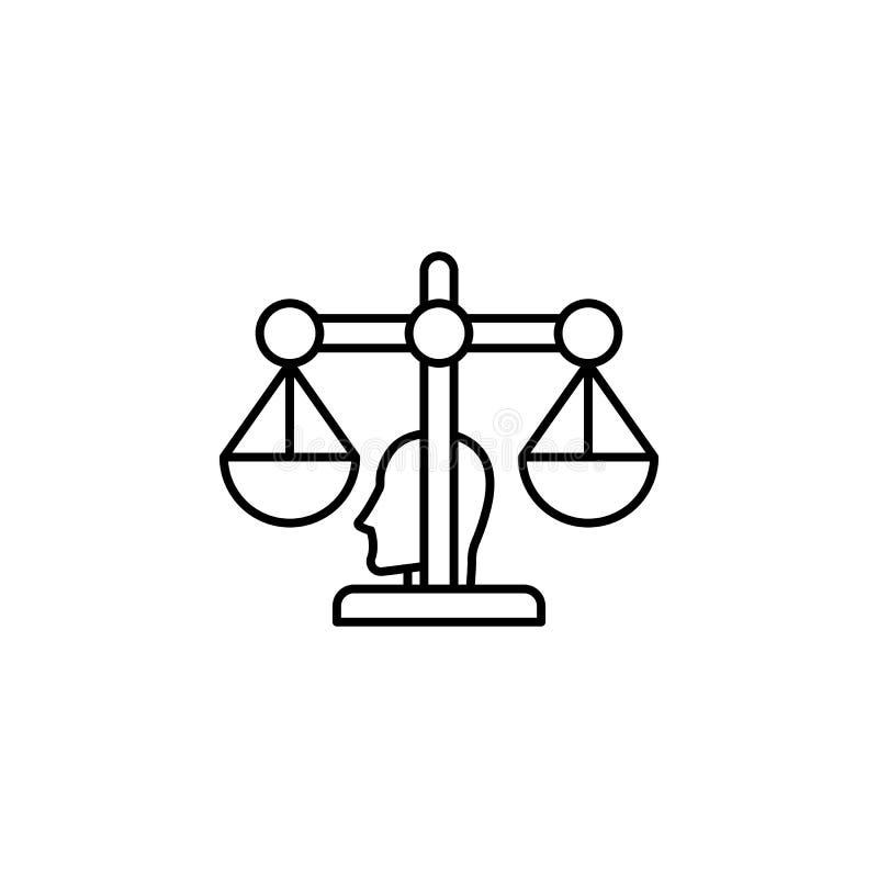 Ícone do conselheiro do robô Elemento do ícone da inteligência artificial para apps móveis do conceito e da Web A linha fina ícon ilustração stock