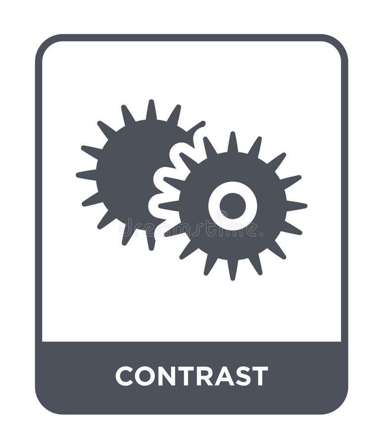 ícone do contraste no estilo na moda do projeto ícone do contraste isolado no fundo branco plano simples e moderno do ícone do ve ilustração stock