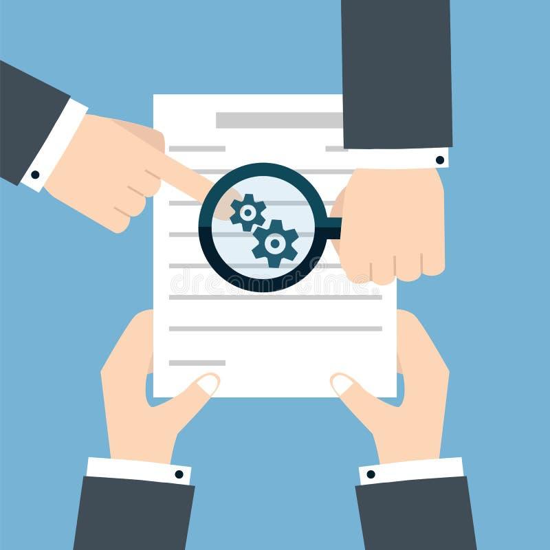 Ícone do contrato do negócio da preparação ilustração stock