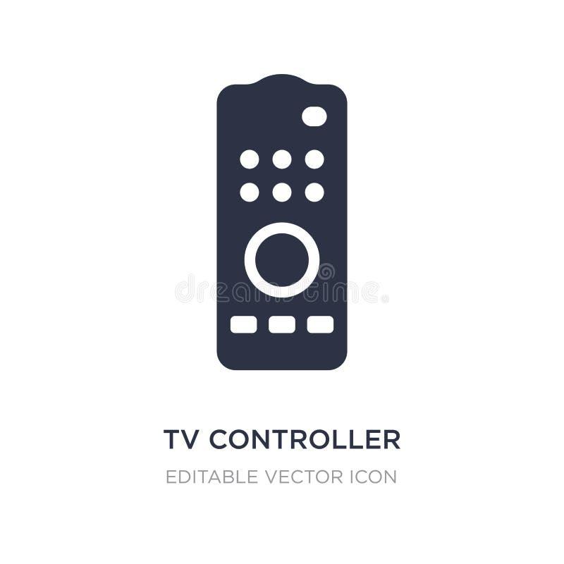 ícone do controlador da tevê no fundo branco Ilustração simples do elemento do conceito do computador ilustração royalty free