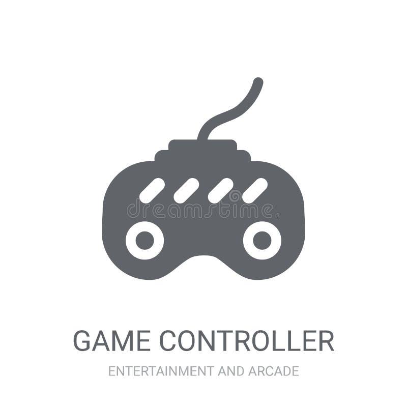 Ícone do controlador do jogo  ilustração stock