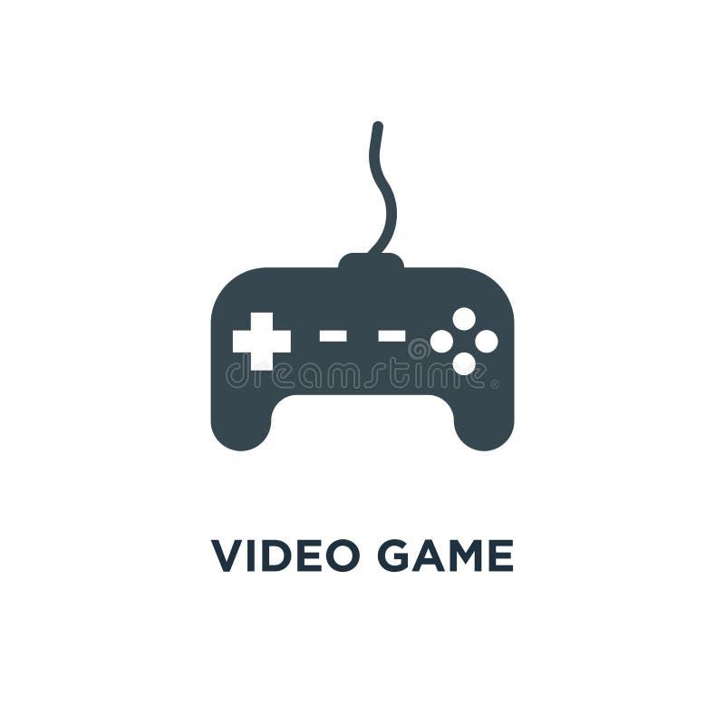 Ícone do controlador do jogo de vídeo manche, símbolo d do conceito do jogo do jogo ilustração royalty free