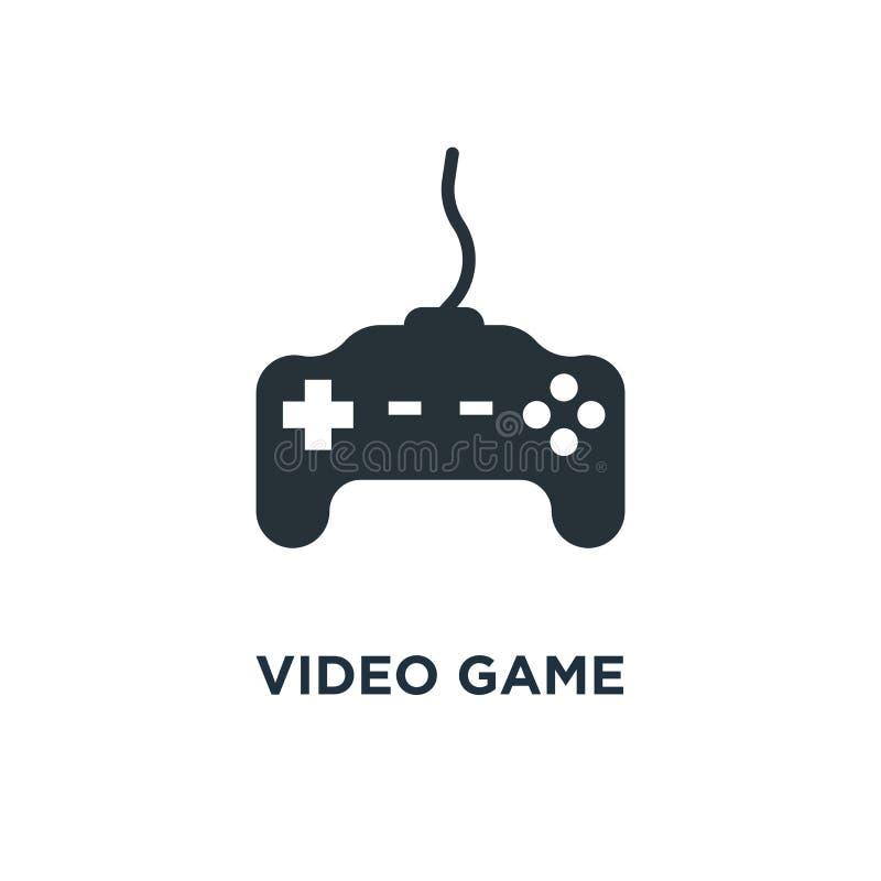Ícone do controlador do jogo de vídeo manche, símbolo d do conceito do jogo do jogo ilustração do vetor