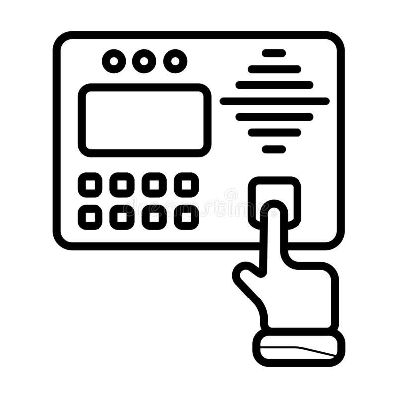 Ícone do controle de acesso ilustração do vetor