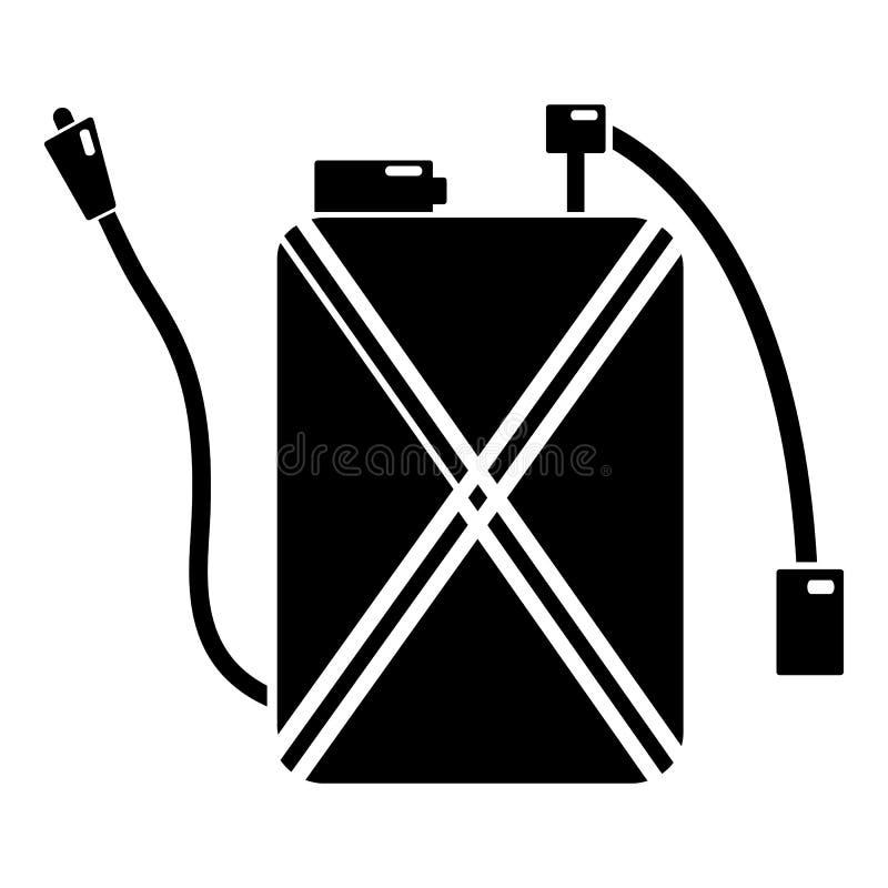 Ícone do controlo de pragas, estilo preto simples ilustração do vetor