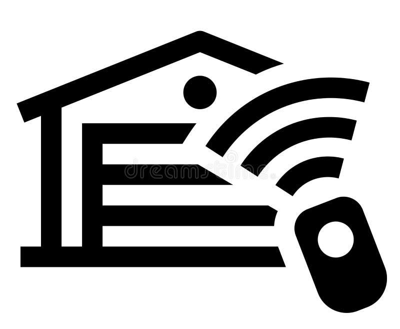 Ícone do controlo a distância da garagem ilustração do vetor