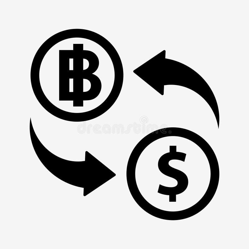 Ícone do converso do dinheiro ilustração royalty free