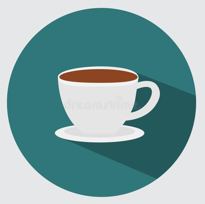 Ícone do copo de café ilustração stock