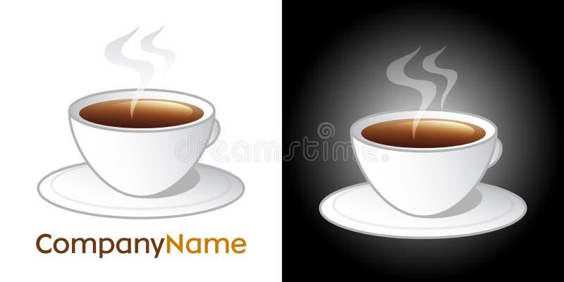 Ícone do copo de café e projeto do logotipo ilustração royalty free